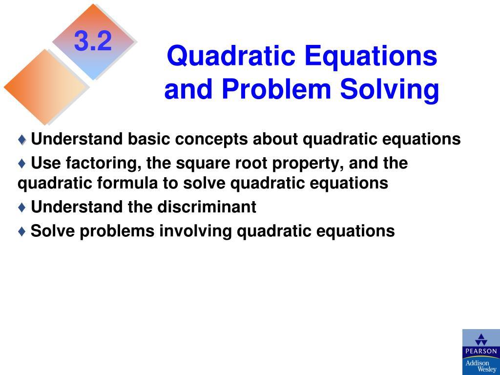 Word problems involving quadratic equations ppt