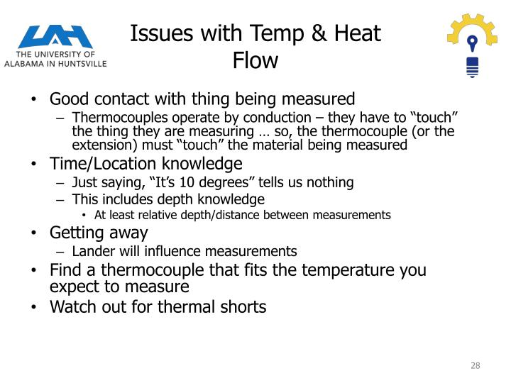 Issues with Temp & Heat Flow