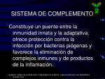 sistema de complemento3