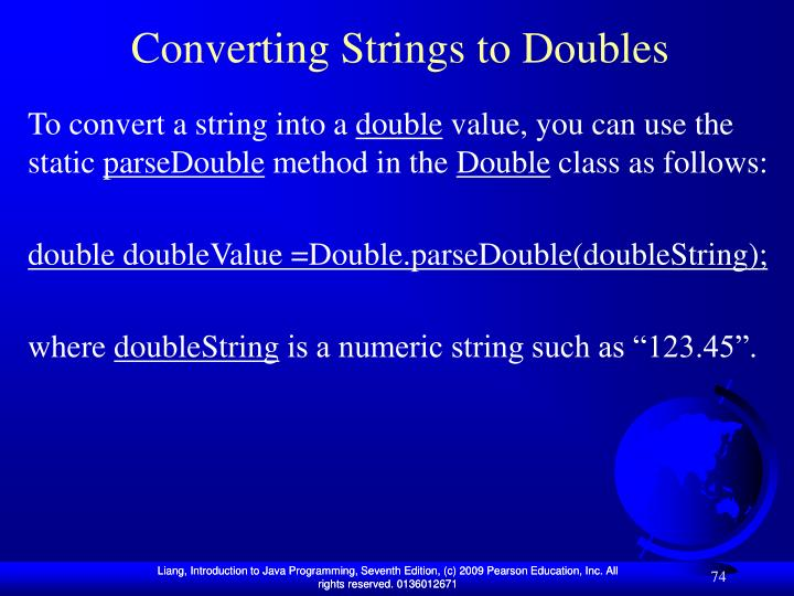 Converting Strings to Doubles