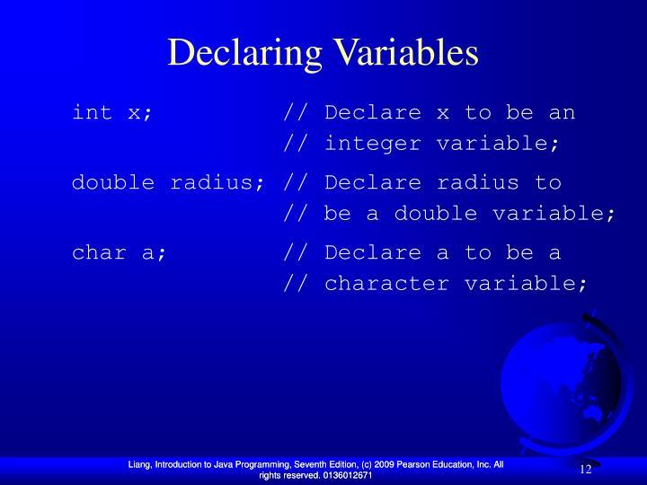 Declaring Variables