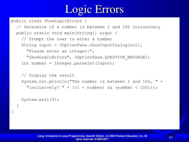 Logic Errors