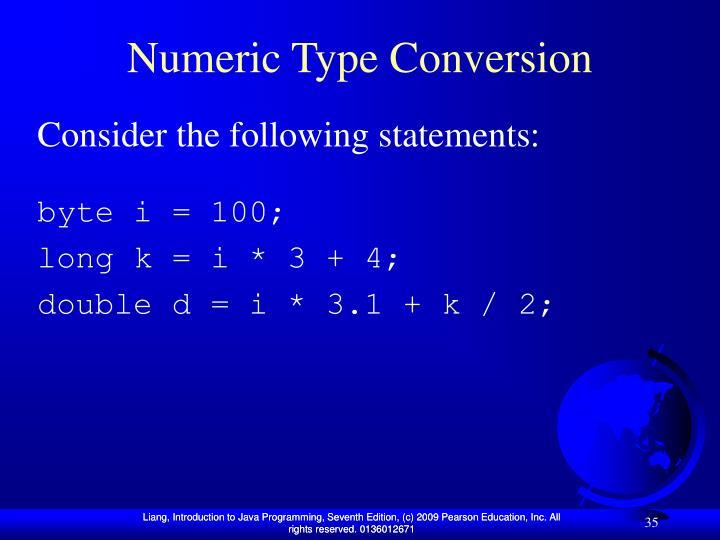 Numeric Type Conversion