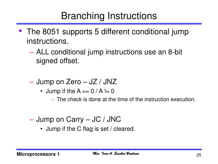 Branching Instructions