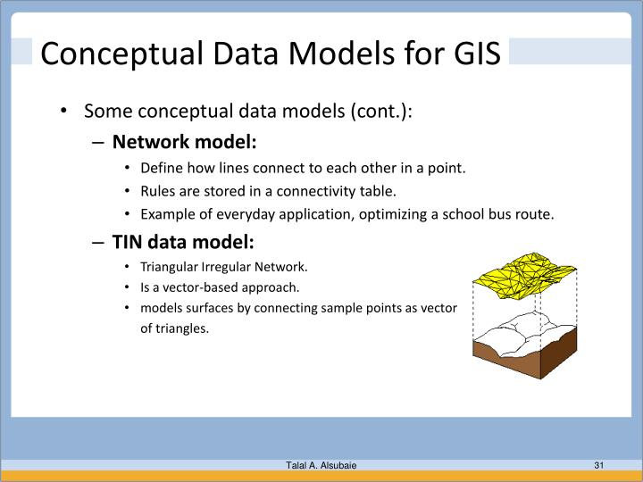 Conceptual Data Models for GIS