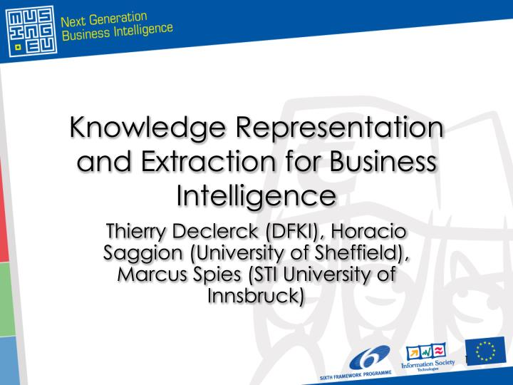 knowledge representation and extraction for business intelligence n.