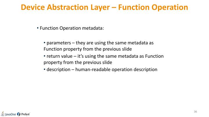 Device Abstraction Layer – Function Operation