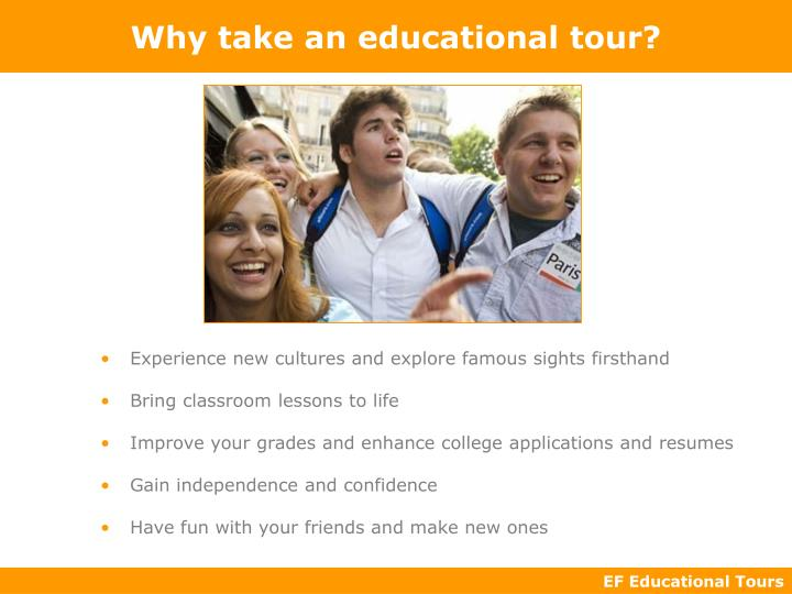 Why take an educational tour