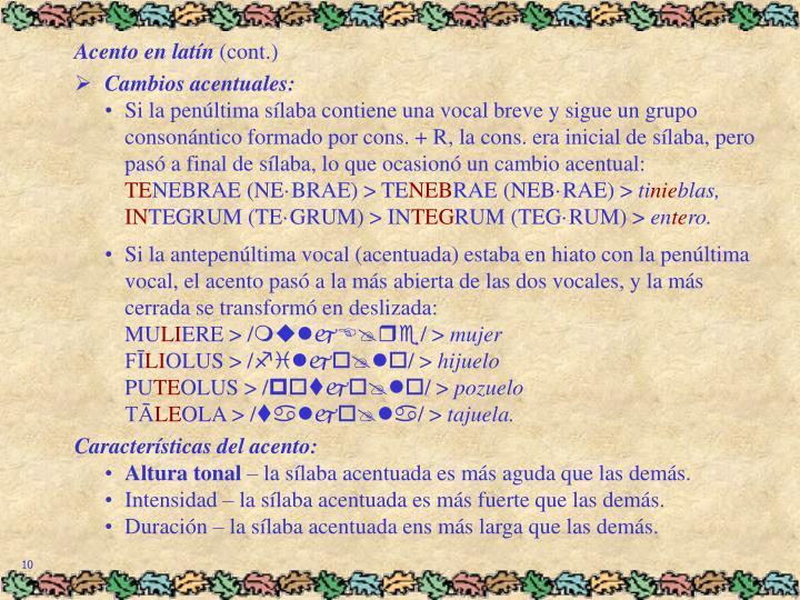 Acento en latín