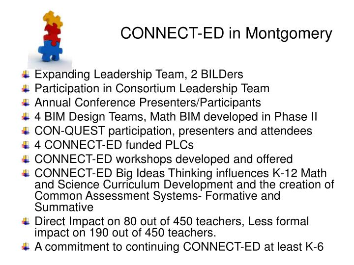 Connect ed in montgomery
