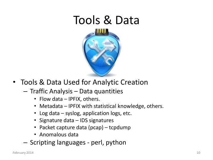 Tools & Data