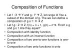 composition of functions
