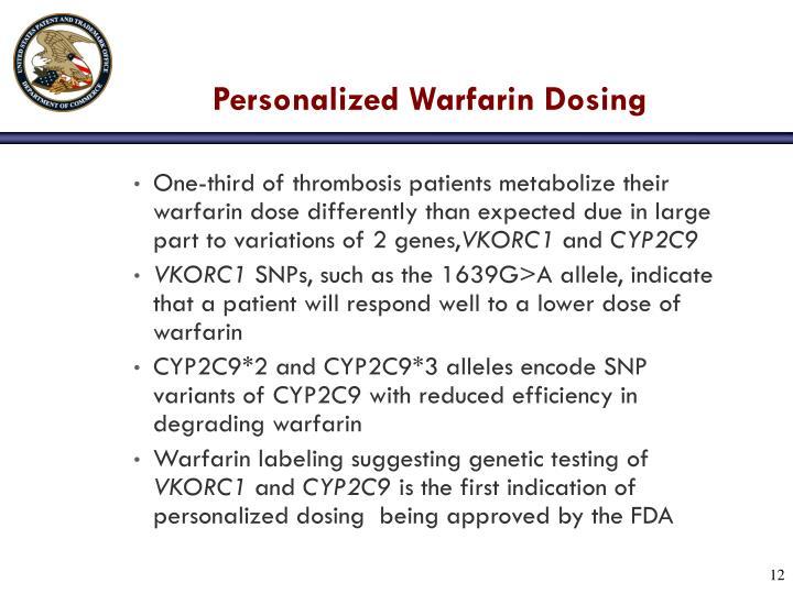 Personalized Warfarin Dosing