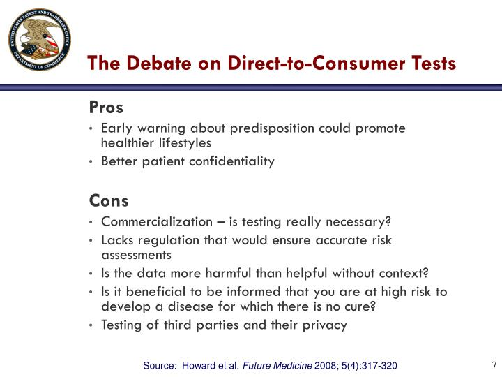 The Debate on Direct-to-Consumer Tests