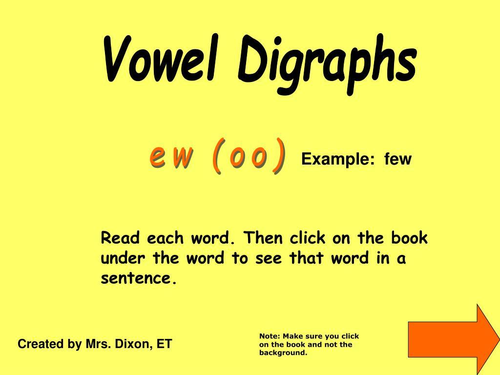 PPT - Vowel Digraphs PowerPoint Presentation - ID:5573453