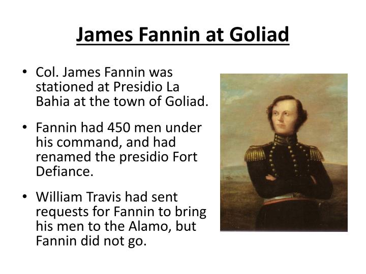 James Fannin at Goliad