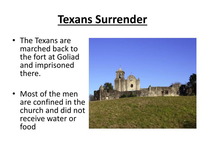 Texans Surrender