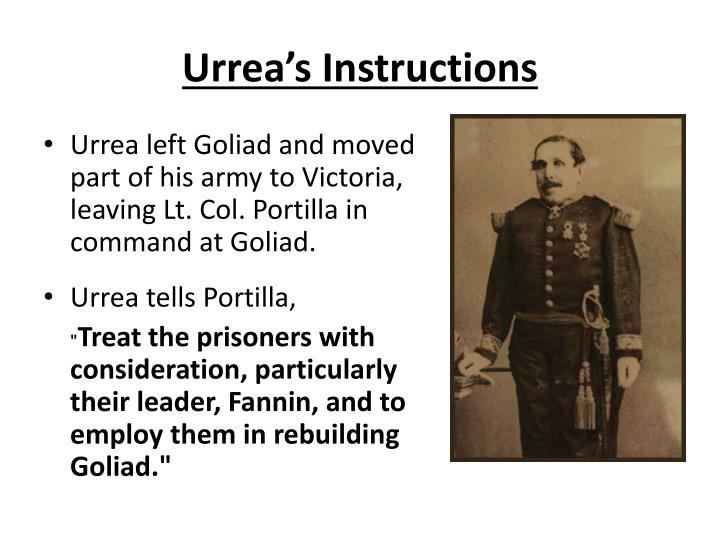 Urrea's Instructions