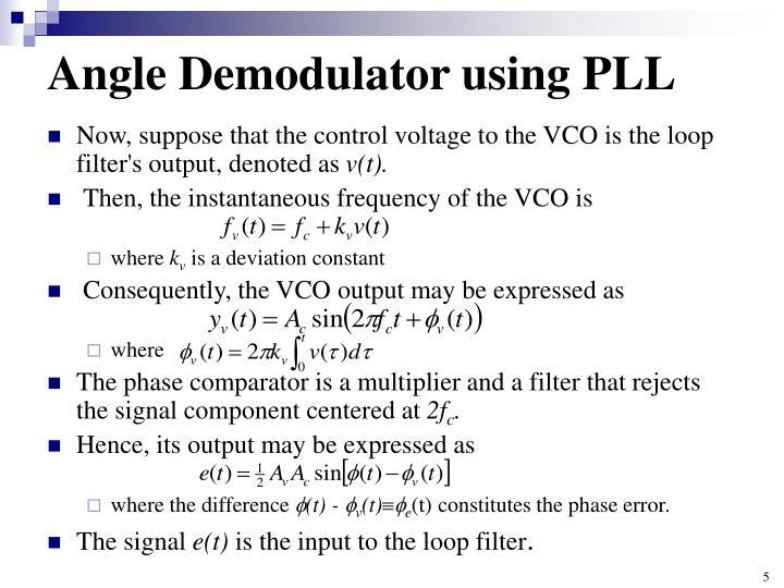 Angle Demodulator using PLL