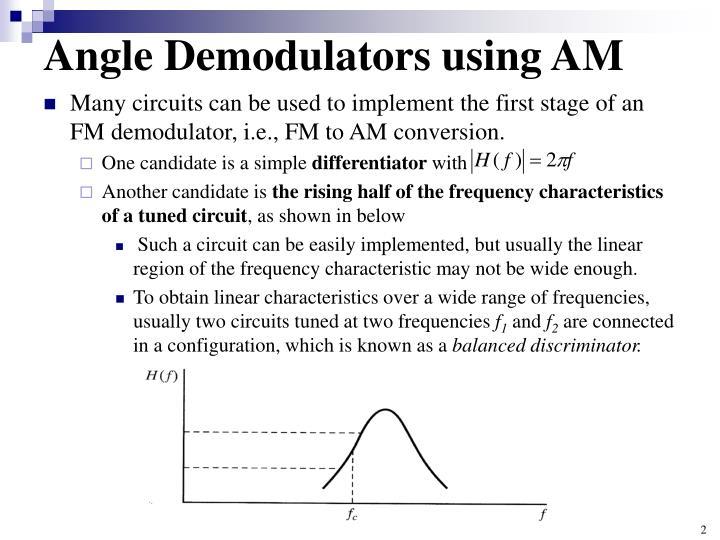 Angle demodulators using am