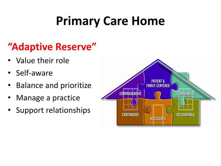 Primary Care Home