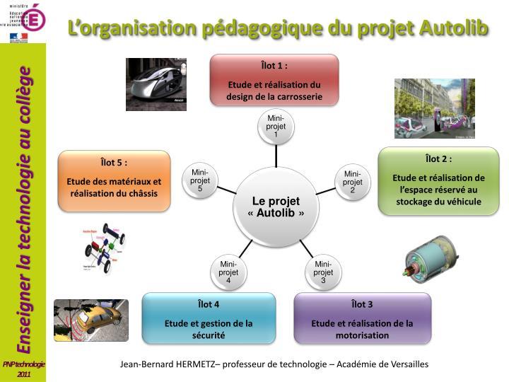 L'organisation pédagogique du projet