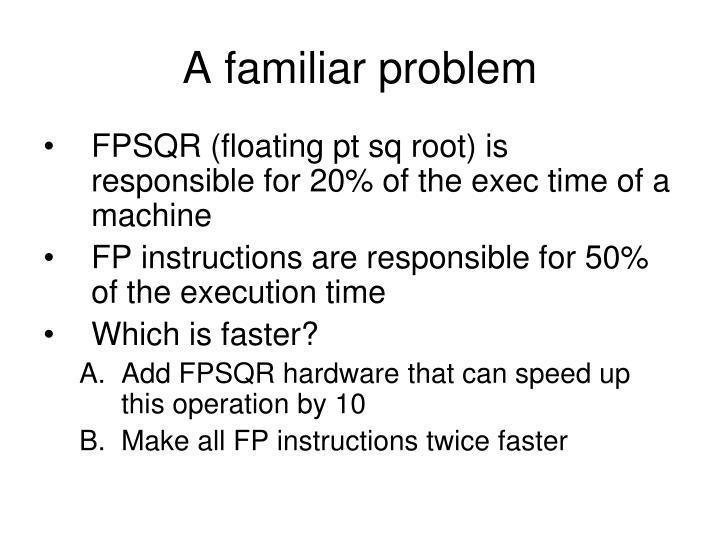 A familiar problem