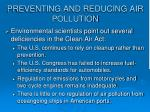 preventing and reducing air pollution1