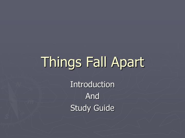 things fall apart study questions In things fall apart, achebe includes stories from igbo culture and tradition, proverbs, and parables what is the significance of achebe's integration of african literary forms with that of western literary forms.