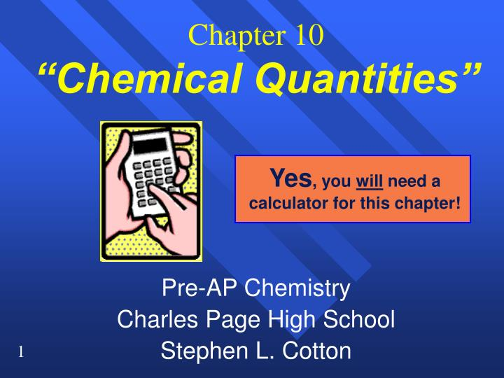 chapter 10 chemical quantities n.