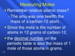 measuring moles