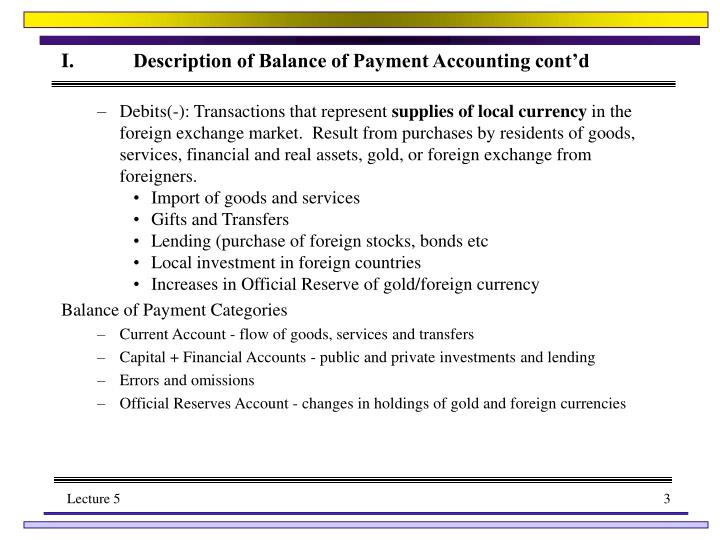 I description of balance of payment accounting cont d