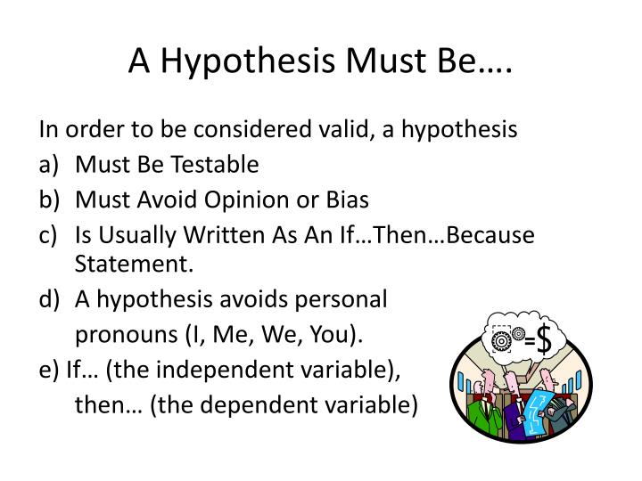 Ppt Writing A Hypothesis Powerpoint Presentation Id