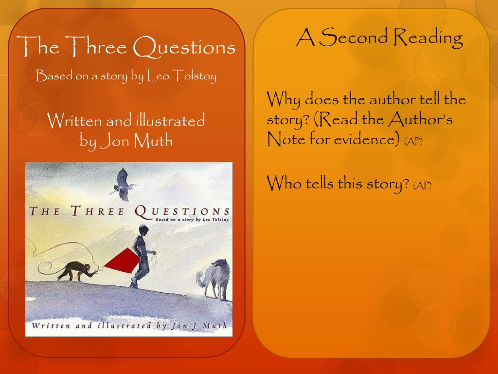 three questions tolstoy analysis