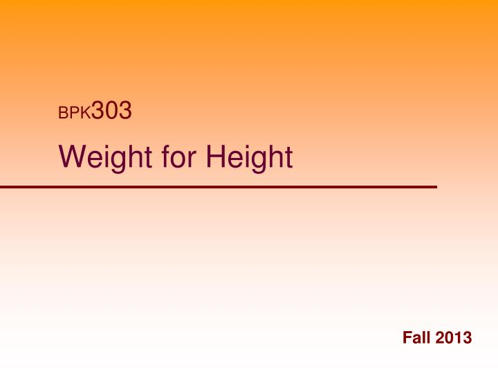weight for height n.