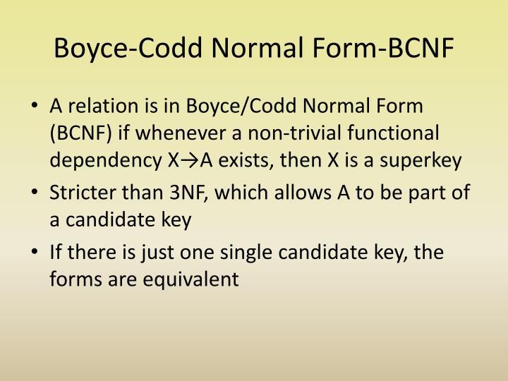Boyce-Codd Normal Form-BCNF