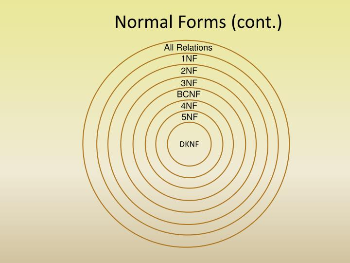Normal Forms (cont.)