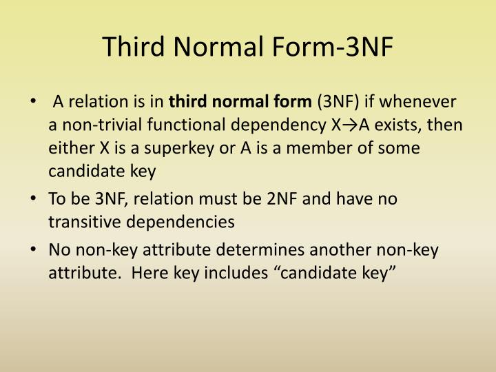 Third Normal Form-3NF