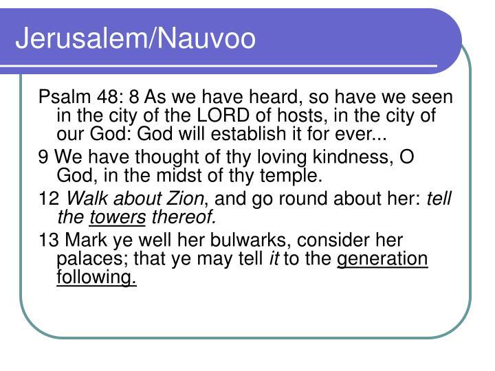 Jerusalem/Nauvoo