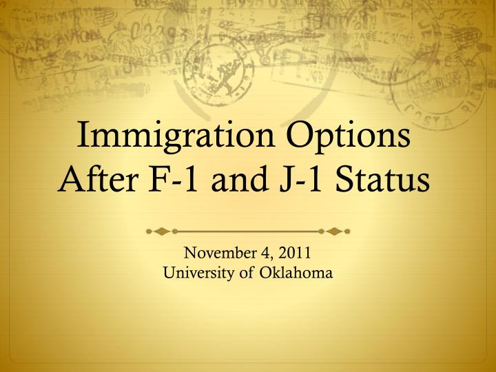 immigration options after f 1 and j 1 status n.