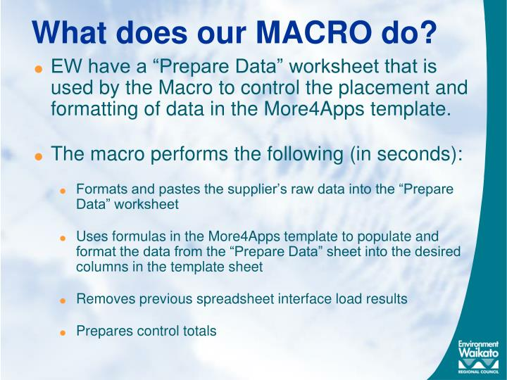 What does our MACRO do?
