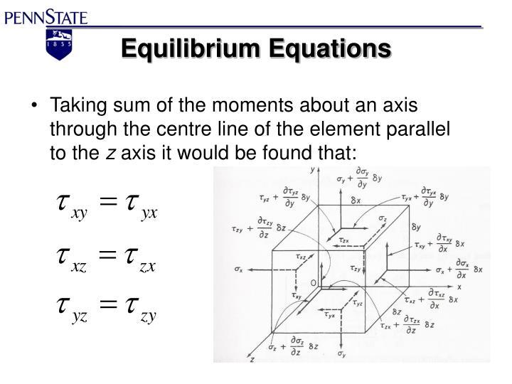 Equilibrium Equations