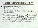 helical reconstruction of pmv