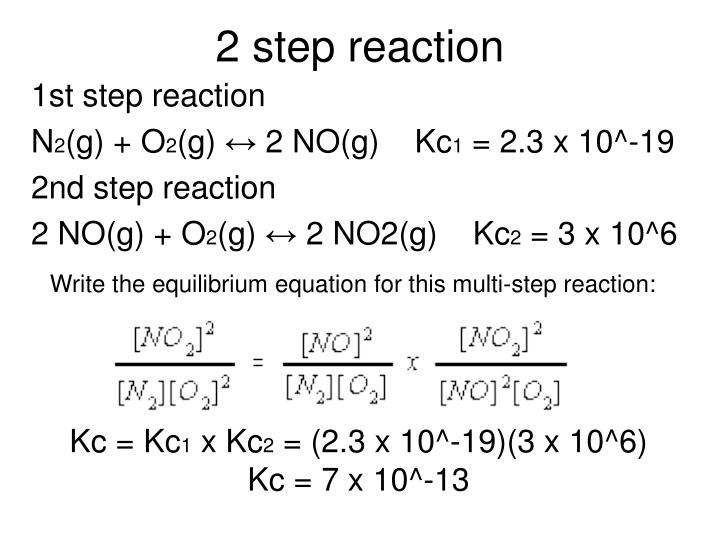 2 step reaction