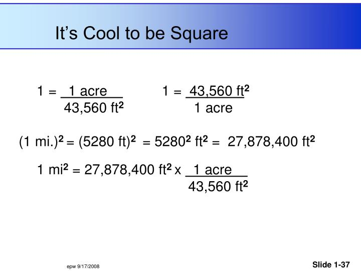 It's Cool to be Square