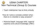 usna charter non technical group 3 courses