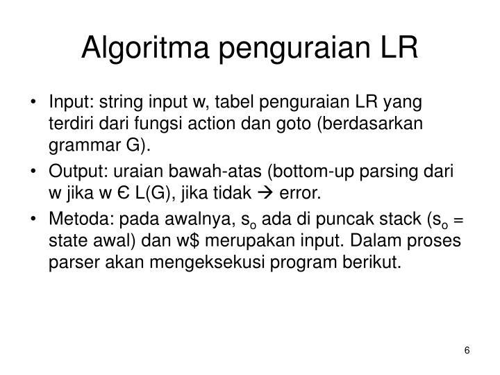 Algoritma penguraian LR