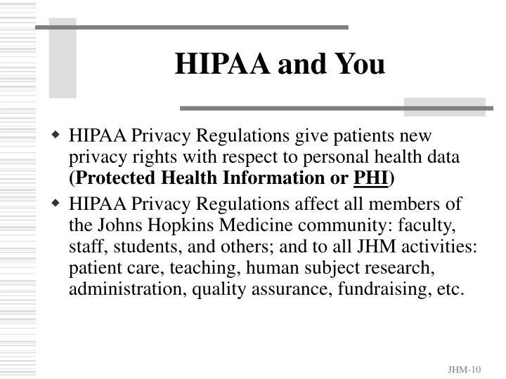 HIPAA and You