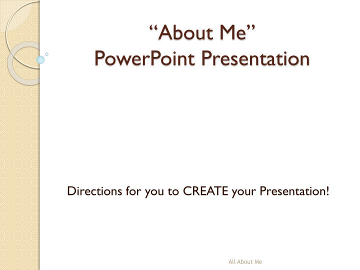 about me powerpoint presentation n.