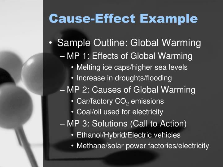 cause effect examples Explain the concept of cause and effect using a familiar topic we have learned that authors organize their writing in different ways and this is called text structure.